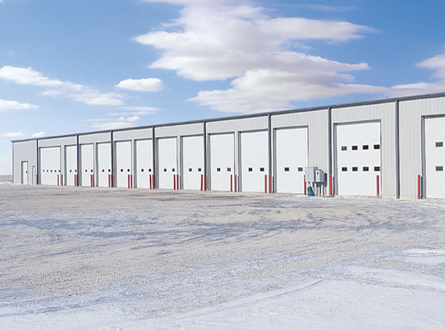 Garage With 13 Commercial doors